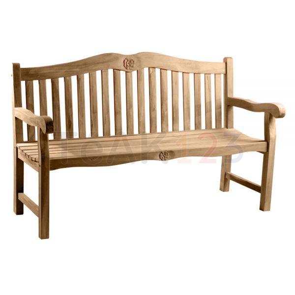 teak bench rose