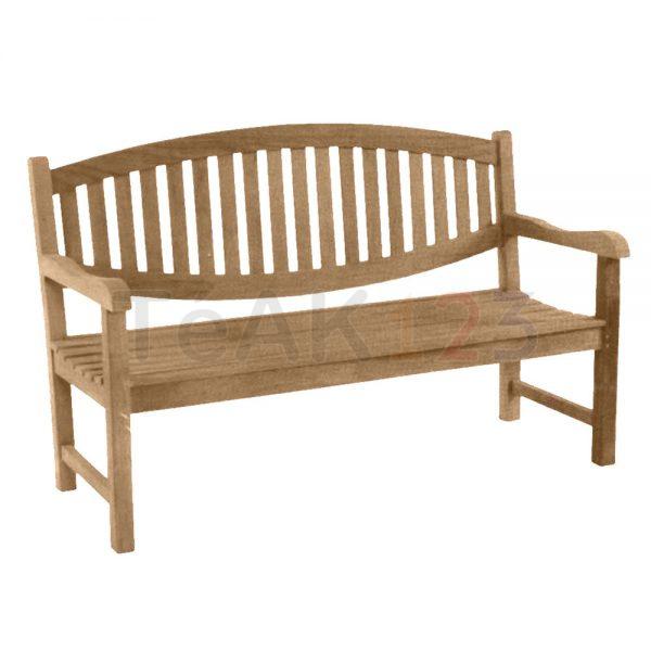 teak bench garden oval