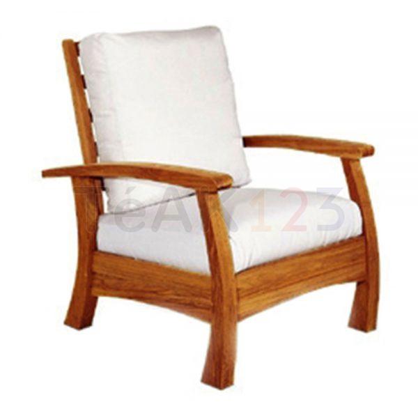 Ivory Arm Chair w/o Cushion