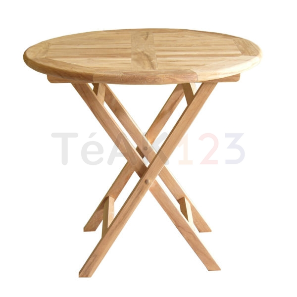 Simple Round Folding Table